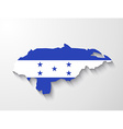 Honduras country map with shadow effect vector image