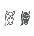 horse line and glyph icon animal and zoo mustang vector image vector image