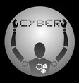 icon cyber vector image vector image