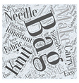 knitting bag Word Cloud Concept vector image vector image