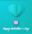 love invitation card valentines day balloon heart vector image
