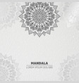 luxury light mandala background vector image vector image