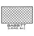 mechanical drawing cross hatching of babbitt vector image vector image