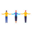 men and woman holding hands vector image vector image