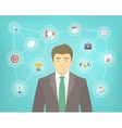 Modern Businessman Conceptual Infographics vector image vector image