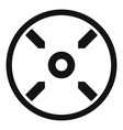 modern gun target icon simple style vector image vector image