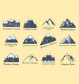 mountain silhouette nature outdoor rocky vector image
