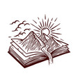 nature book line hand drawn vector image