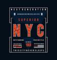 new york city typography design t shirt vector image vector image