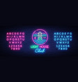 night club lighthouse neon sign lighthouse logo vector image