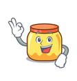 okay cream jar character cartoon vector image