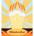 Oktoberfest card with Beer vector image vector image