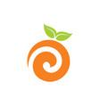orange logo abstract designs vector image