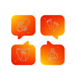 pacifier footprint and child diapers icons vector image