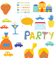 Party design elements for hipster vector image vector image