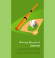 private baseball lessons learning to play vector image vector image