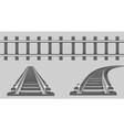 rails straight and turn railway vector image