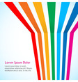 Rainbow stripes on light background vector image vector image