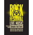 rock festiva vector image vector image