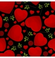 seamless pattern from hearts vector image vector image