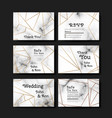 series invitation wedding in art vector image