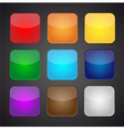 set color apps icons - background vector image