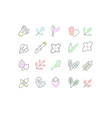 set line icons greenery vector image vector image
