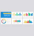 set yellow red green and blue elements for vector image vector image