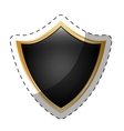 shield security icon image vector image