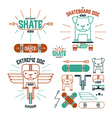 Skateboard dog emblems and icons vector image vector image