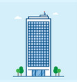 skyscraper modern business center high rise vector image
