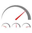 speedometer or generic meters gauges with red vector image vector image