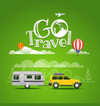 summer travel go travel concept vector image vector image