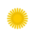 Sun icon in flat style vector image