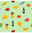 Supermarket foods seamless pattern vector image vector image