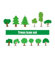 variety of trees in a flat vector image vector image