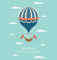 vintage ornate and decorated hot air balloon in vector image vector image
