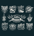 vintage tattoo salon prints vector image vector image