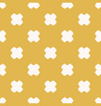 yellow and white minimalist seamless pattern vector image vector image