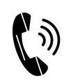 Phone icon contact web concept symbol call button vector image