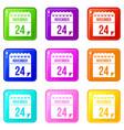 24 november calendar set 9 vector image vector image