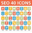 40 Icons SEO - Search Engine Optimization