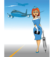 Air Hostess vector image vector image