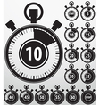 Analog timer icons set vector image vector image