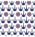 anchors and compasses seamless pattern nautical vector image vector image