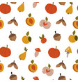 autumn seamless pattern with colorful fruits vector image vector image