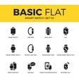 Basic set of Smart watch icons vector image vector image