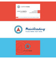 beautiful map pointer logo and business card vector image vector image