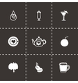 Beverages icon set vector image vector image