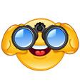 binoculars emoticon vector image vector image